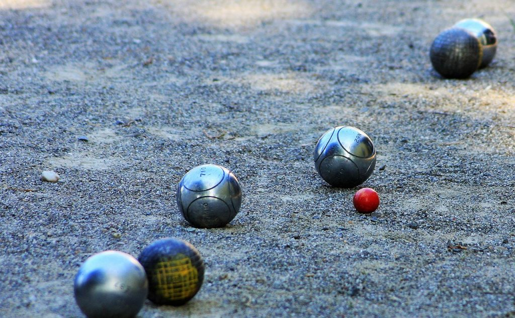 bocce ball gravel
