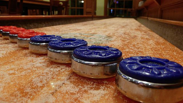 shuffleboard pucks