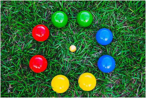 bocce on grass